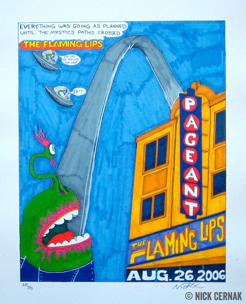 The Flaming Lips concert poster by Nick Cernak